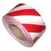 Лента для ограждений 50 мм х 150 м бело-красная