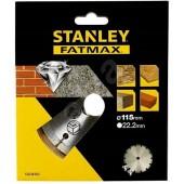 Диск STA38102-XJ алмазный сегментированный 115 x 22,2 по бетону STАNLEY
