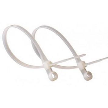 Стяжки кабельные НЕЙЛОНОВЫЕ с монтажным кольцом (многоразовый замок) уп100шт