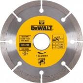 Диск DT3701-QZ алмазный сегментный универсальный 115 х 22,2, h = 7 мм DEWALT