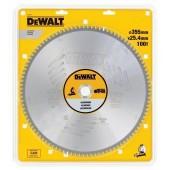 Диск DT1917-QZ по алюминию EXTREME 355 х 25,4 х 3,2 мм, 100 TCG -5° DeWALT