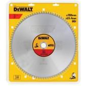 Диск DT1927-QZ пильный по СТАЛИ 355/25.4 мм, 90 TCG +1.5° DEWALT