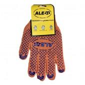 Перчатки 10325 с точкой ПВХ с рисунком ALET оранжевые 11 размер