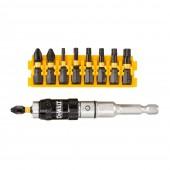 Набор DT70578T-QZ с шарнирным держателем насадок 25 мм 10 предметов, DEWALT