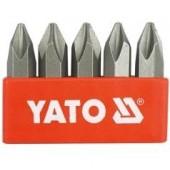 Биты YT-2810 ударные крестовые РН2х36 мм, 5 шт YATO